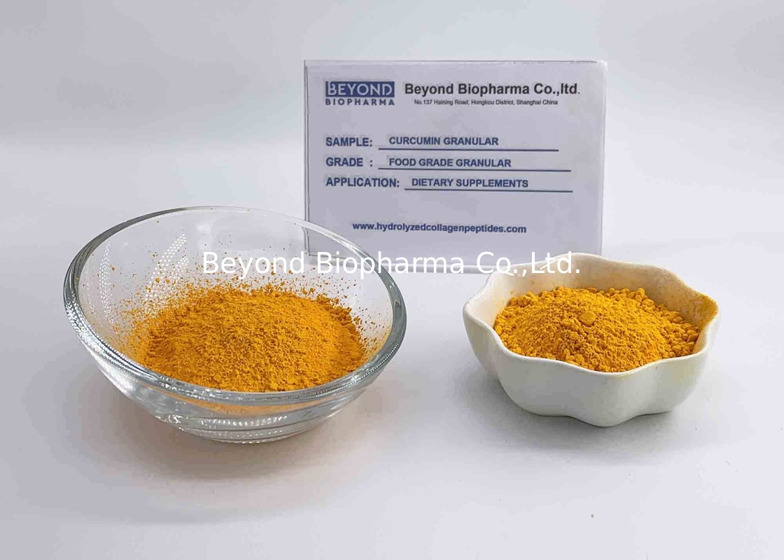 Raw Material Organic Curcumin Extract Powder , Turmeric Powder For Back Pain